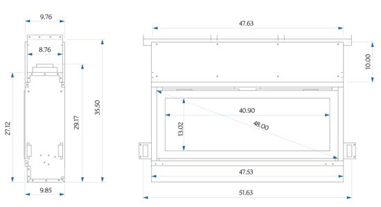 The Emerson gas fireplace specifications