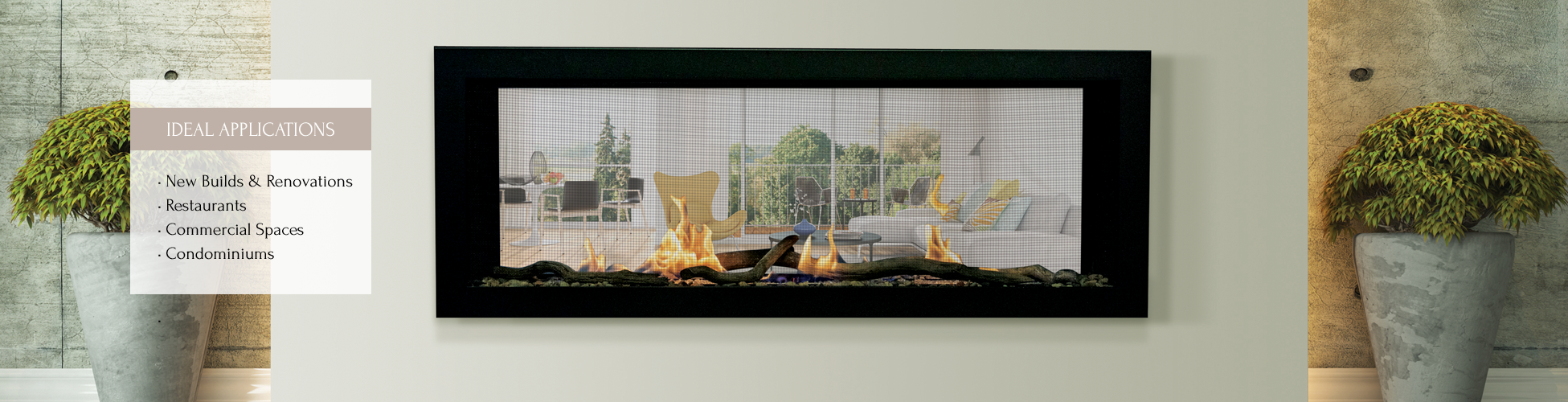 Emerson gas fireplace by Sierra Flame