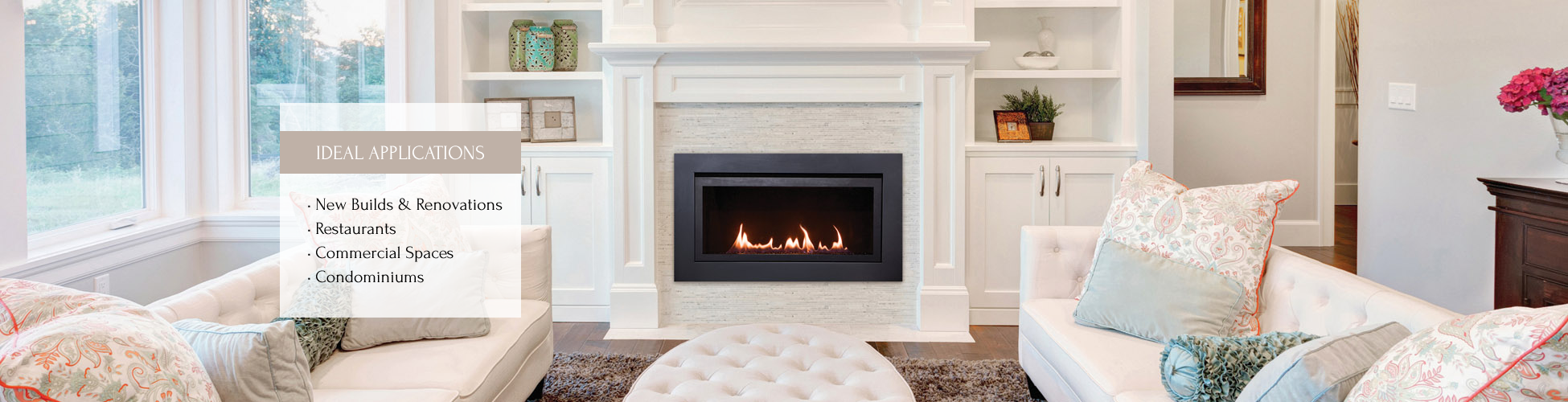 Langley gas fireplace by Sierra Flame