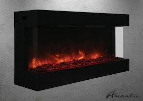 Tru-View-XL-50 electric fireplace - 3 sided