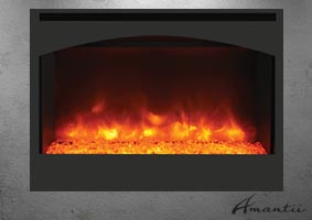 Zero Clearance elecltric fireplace by Amantii