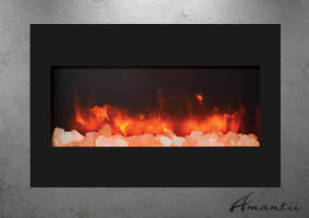 Zero Clearance electric fireplace by Amantii