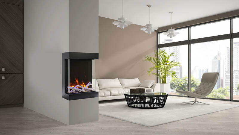 Cube electric fireplace
