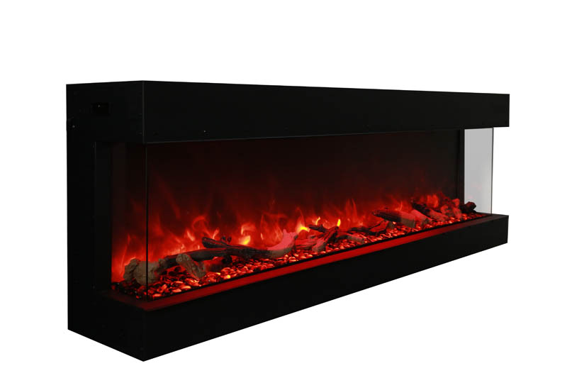 truview 72 xl 3 sided electric fireplace