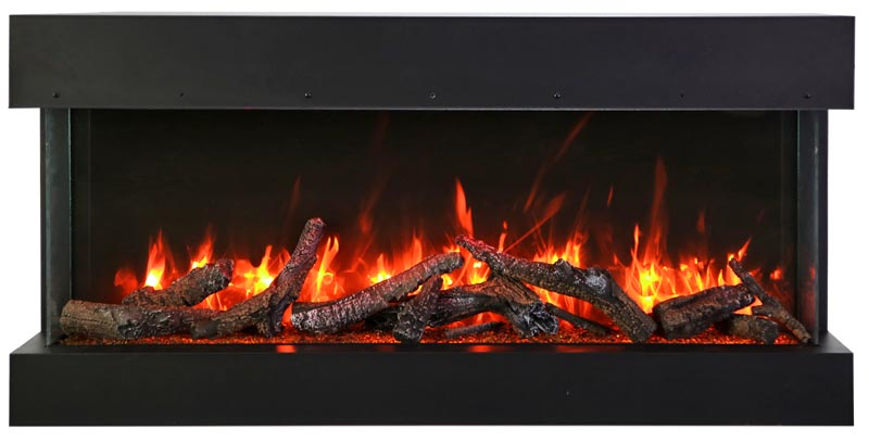 Amantii TRU-VIEW-SLIM with10 piece oak log set