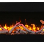 Amantii TRU-VIEW-SLIM with10 piece birch log set