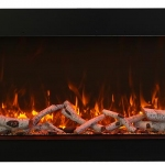 Tall electric fireplace