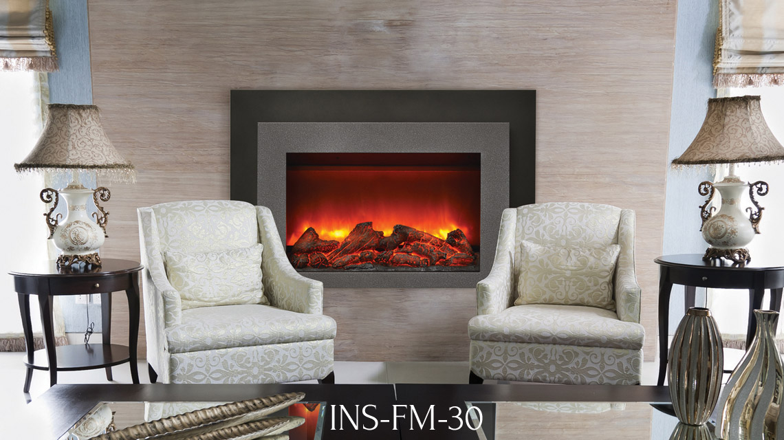 Electric Fireplace Insert Ins Fm 30 Wide