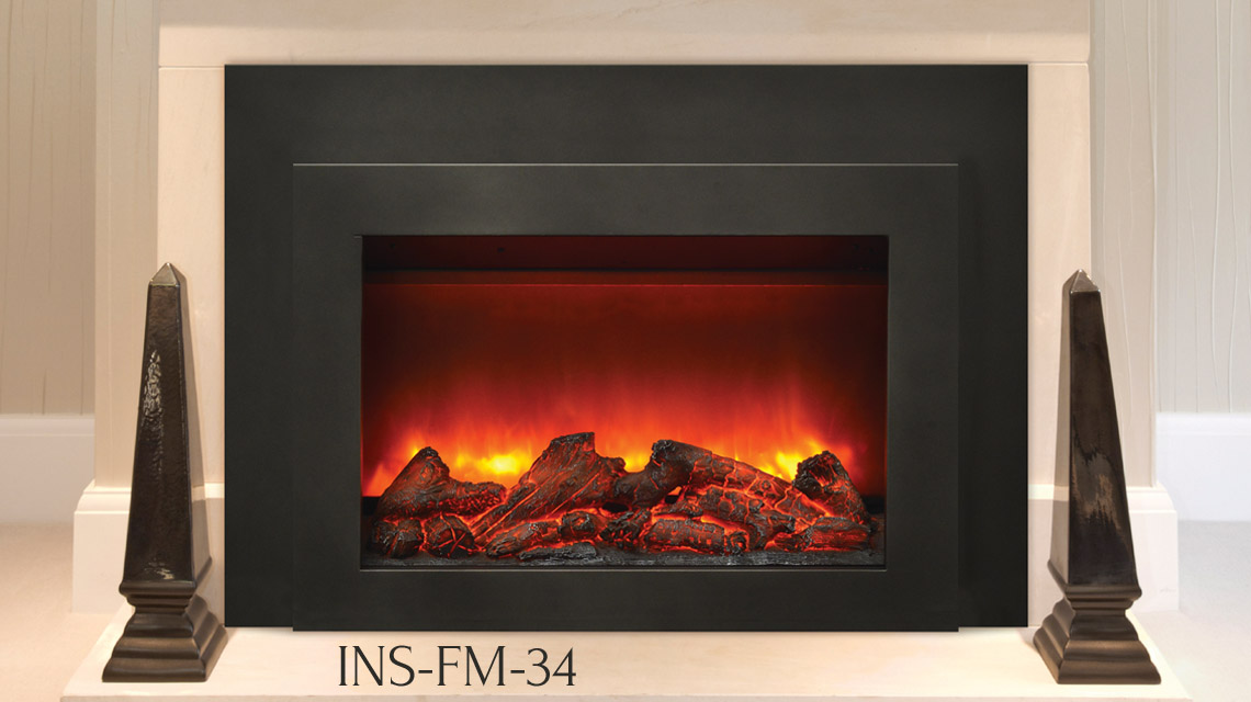 "Sierra Flame electric insert 34"" wide"