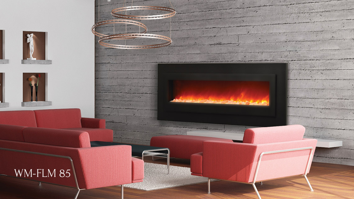 "Sierra Flame electric fireplace - 85"" wide"