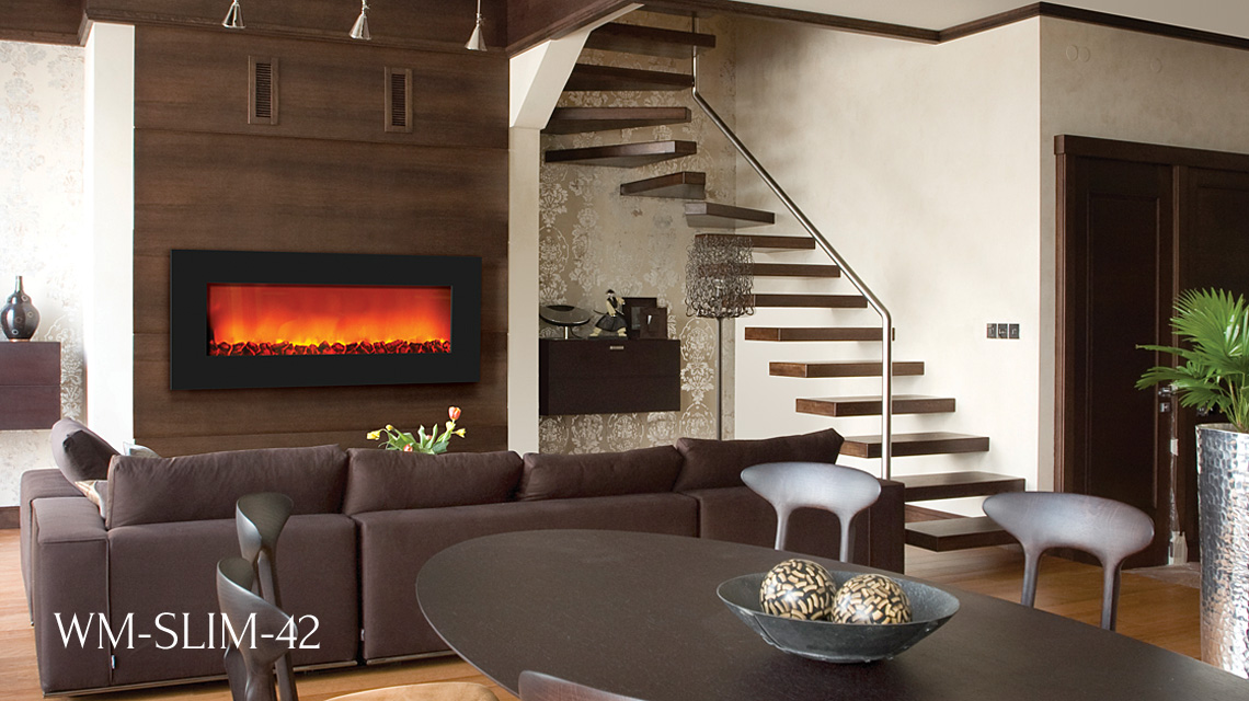 Sierra Flame electric fireplaces - Electric Fireplaces - Slim Line Series - Sierra Flame