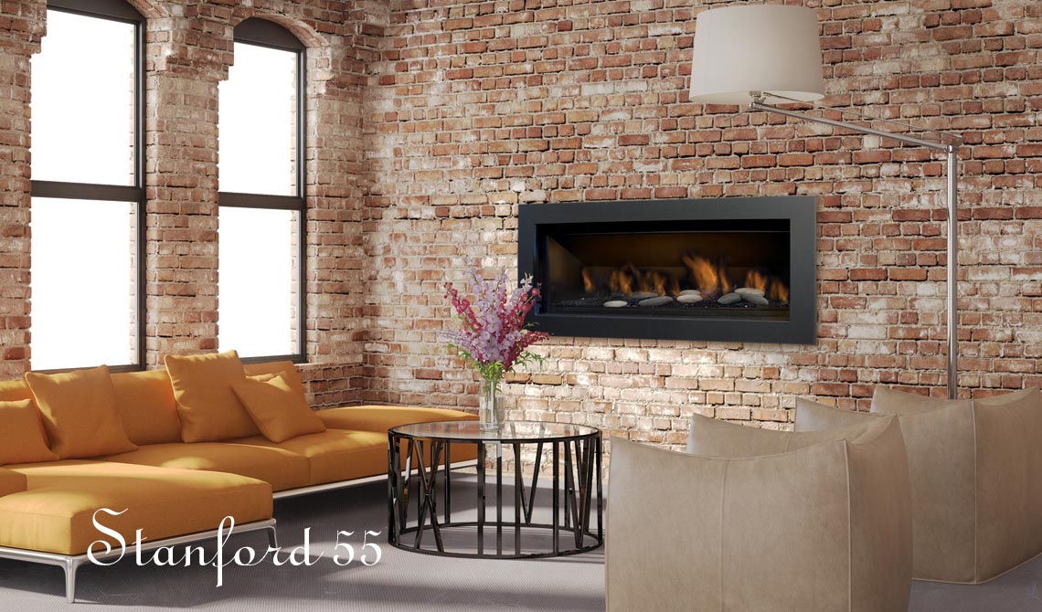 Stanford gas fireplace - direct vent - Sierra Flames