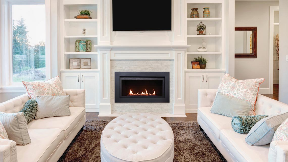 Linear Gas Fireplace The Langley 36 Sierra Flame