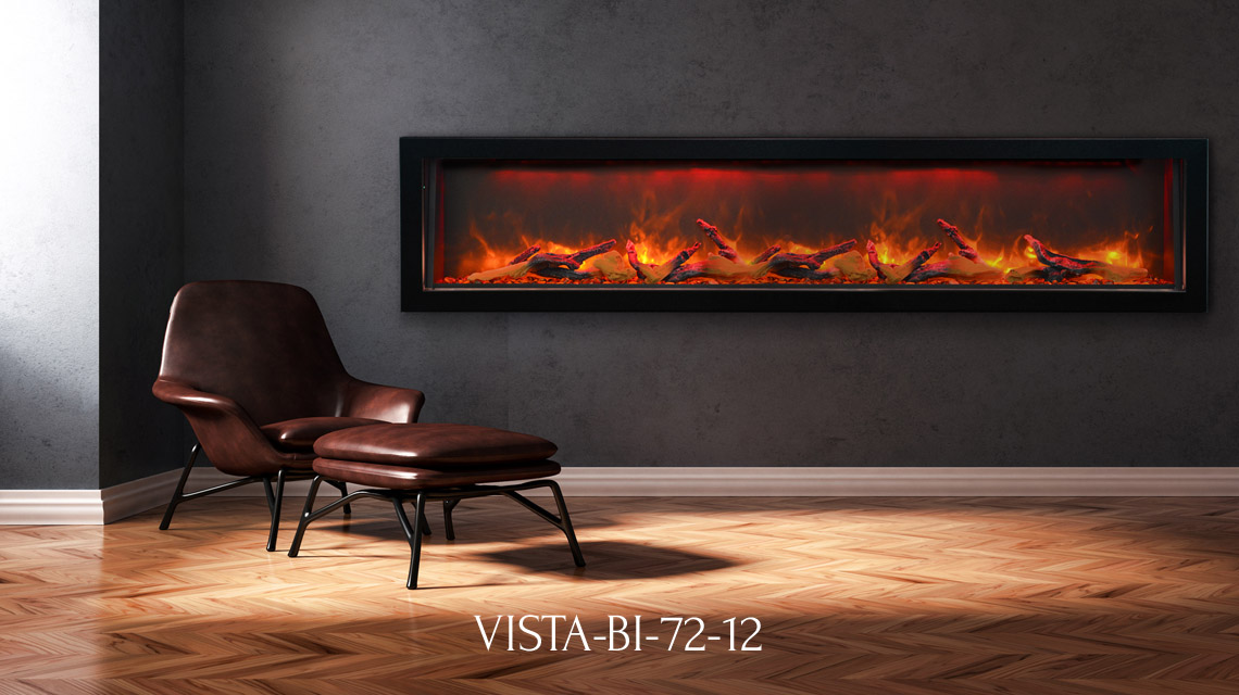 Vista Bi 72 12 Electric Fireplace Sierra Flame