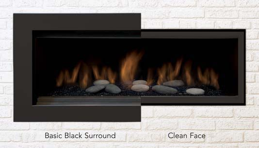 Gas Fireplace Stanford 55 Sierra Flame Large Flame