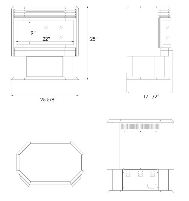 free standing electric stove specs