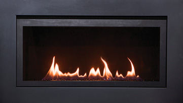 The Langley linear gas fireplace