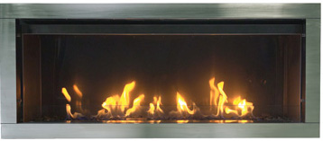 Tahoe outdoor gas fireplace