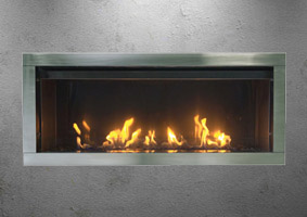 Tahoe outdoor electric fireplace