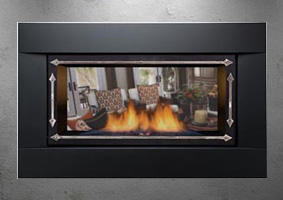 Sierra Flames gas fireplace - pallisade
