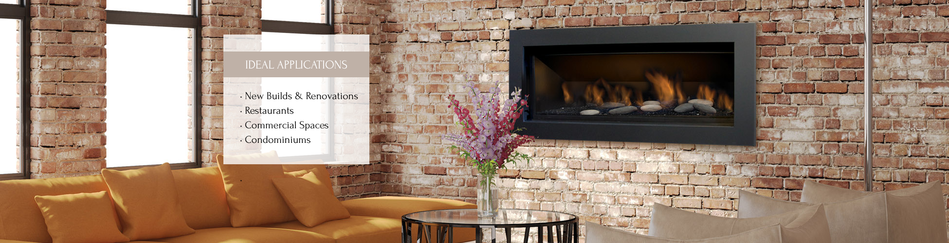 Stanford gas fireplace by Sierra Flame