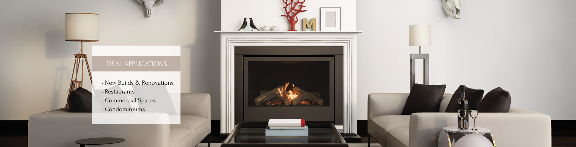 Thompson gas fireplace by Sierra Flame