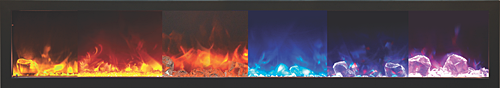 Elecltric Fireplace FIRE & ICE® Flame Presentation