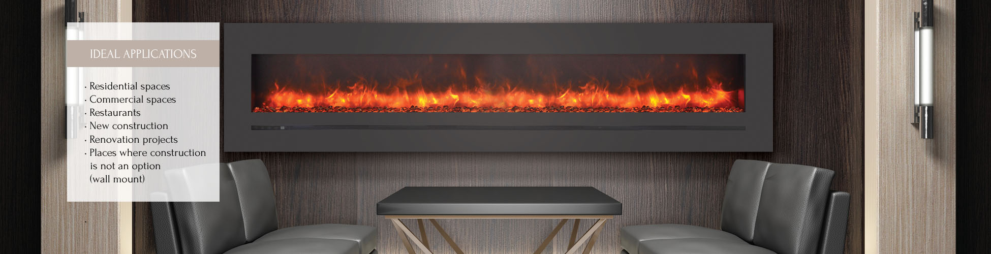 WM-FML-88-9623-STL electric fireplace