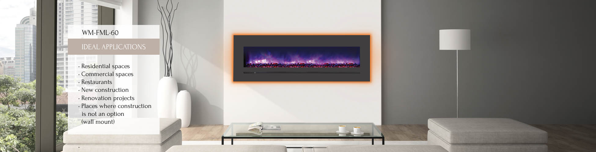 WM-FML electric fireplace by Sierra Flame