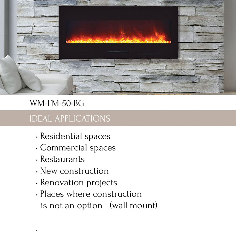 Awe Inspiring Wm Fm 50 Bg Electric Fireplace Wm Fm 50 Bg No Logs Beutiful Home Inspiration Ommitmahrainfo