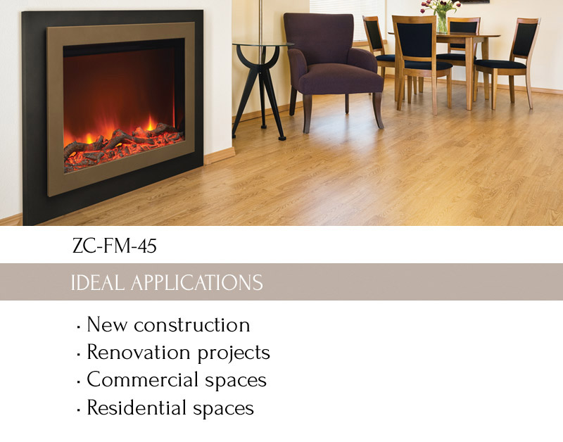 ZC-FM-45 Zero Clearance Electric Fireplace - Amantii Electric ...