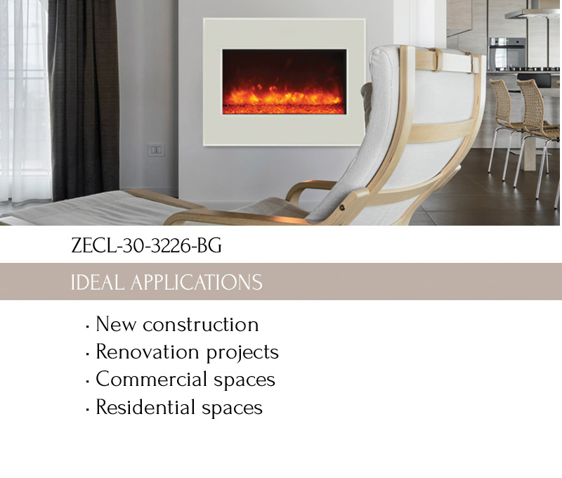 zero clearance electric fireplace amantii electric fireplaces - Electric Fireplaces Clearance
