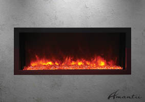extra slim 40 inch wide electric fireplace