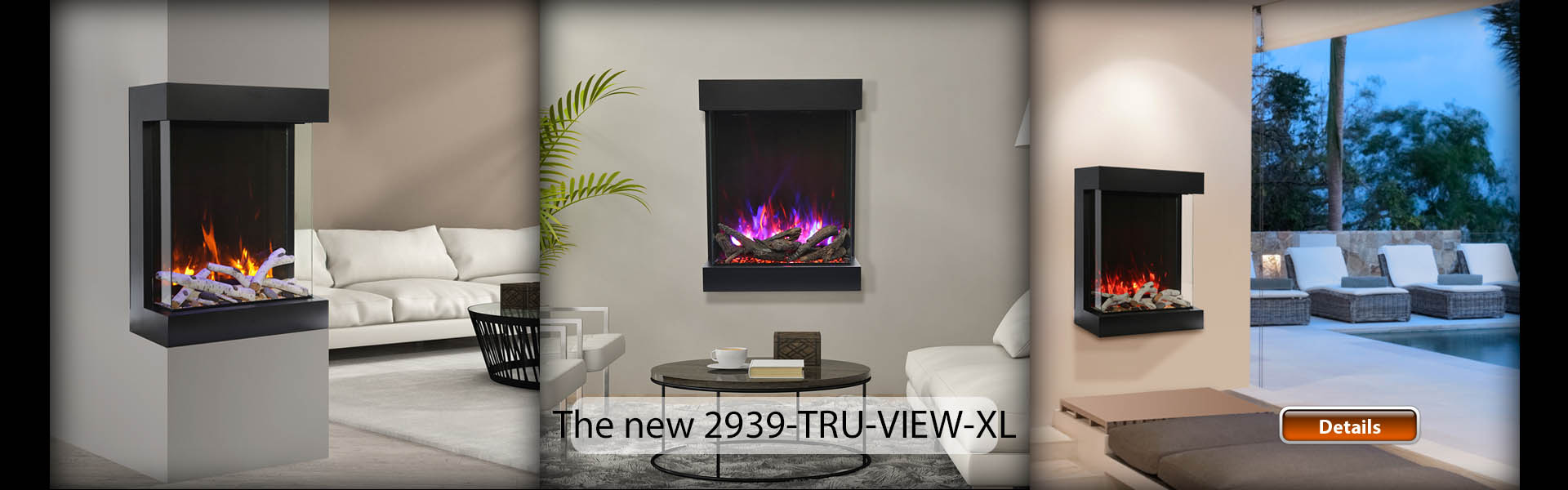TruView electric fireplace