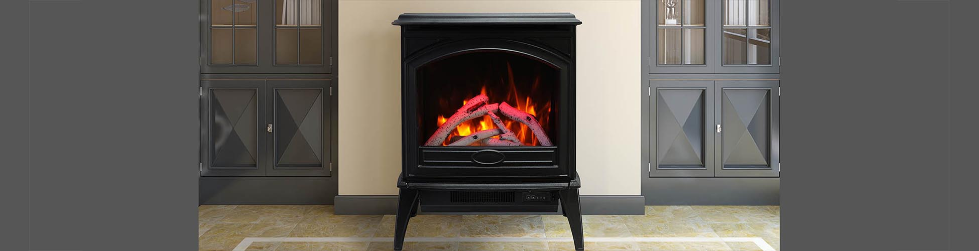 E-50 cast iron electric fireplace