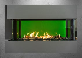 Lyon 4 sided gas fireplace
